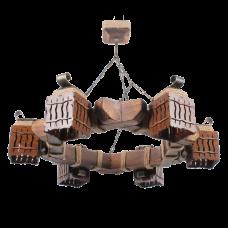 Люстра підвісна 6 плафонів Е14 серії MINI шуба 463316