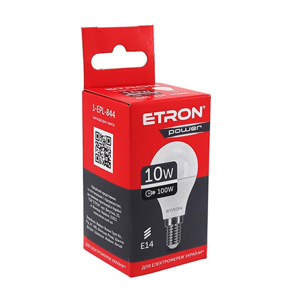 Лампа світлодіодна ETRON Power Light 1-EPL-844 G45 10w 4200K 220V E14