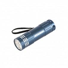 Ручний ліхтар STERN 9LED 3xAAA Синій алюмінієвий корпус з ремінцем