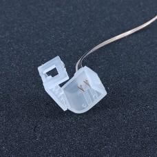 Конектор PROLUM для неону Silicone 2835 120 8x16(Провід + 1 затискач)