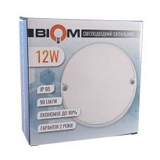 Світильник світлодіодний ЖКГ BIOM MPL-R12-6 12Вт 6000К коло