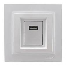Розетка USB з зарядкою MONO Electric DESPINA Біла