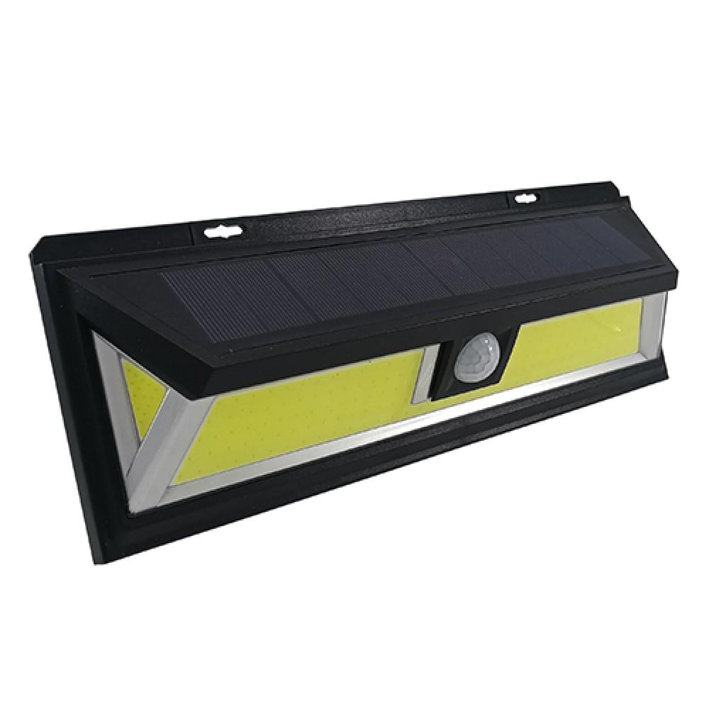 LED світильник на сонячній батареї VARGO 20W COB c датчиком Чорний