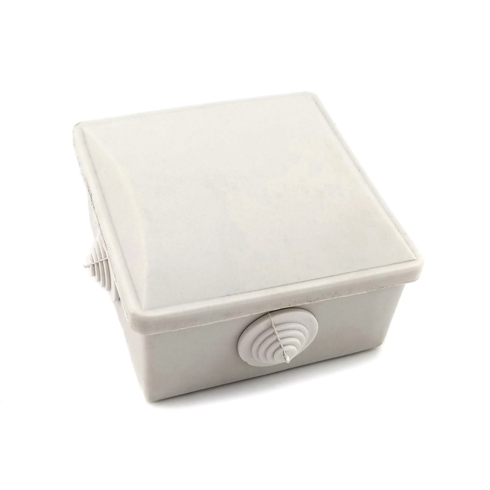 Розподільна коробка 80х80х45мм з гумками