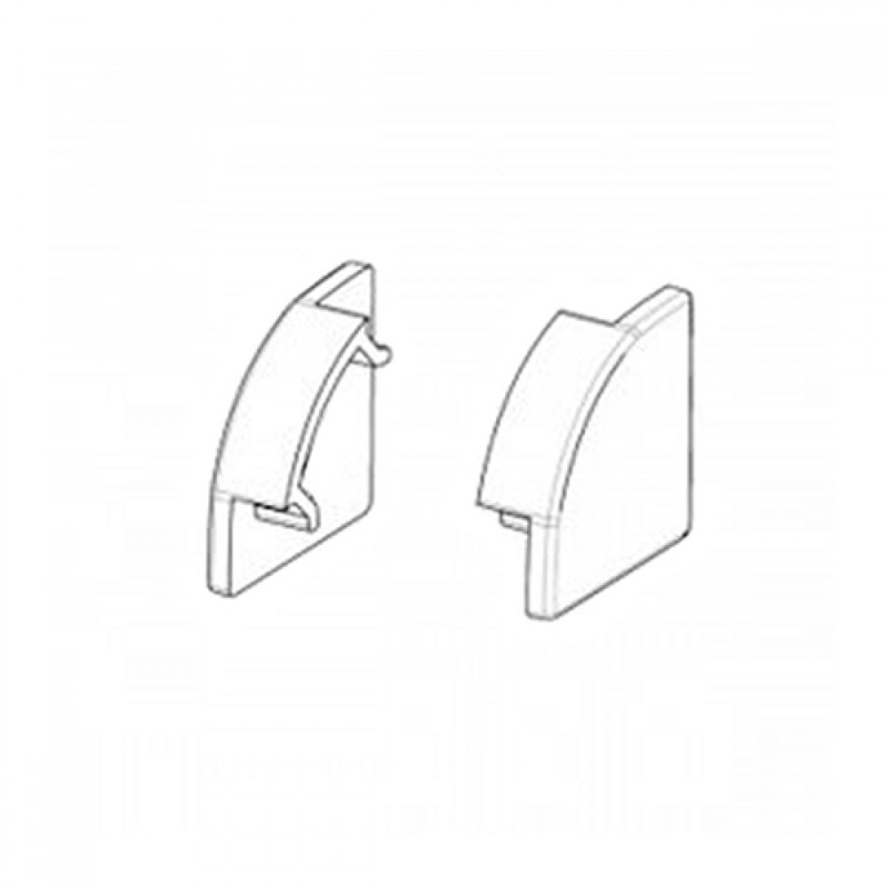 Заглушка для BIOM кутового алюмінієвого профілю ЛПЗ-17 17х17