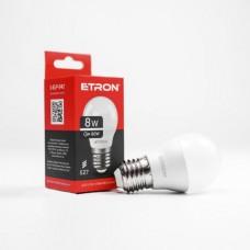 Лампа світлодіодна ETRON Power Light 1-ELP-042 G45 8W 4200K 220V E27