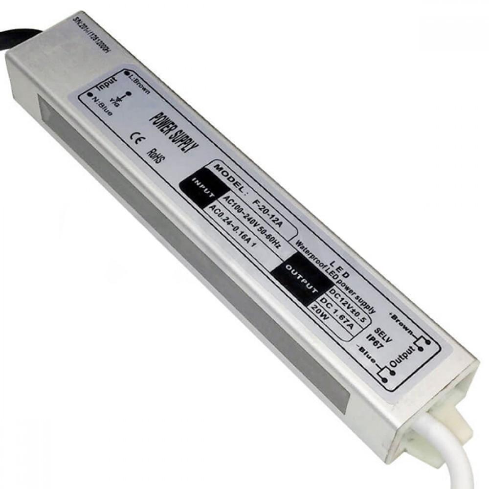 Блок живлення BIOM FTR-20 12В 20Вт 1.66 А Алюміній Стандарт IP67