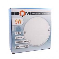 Світильник світлодіодний ЖКГ BIOM MPL-R9-6 9Вт 6000К коло
