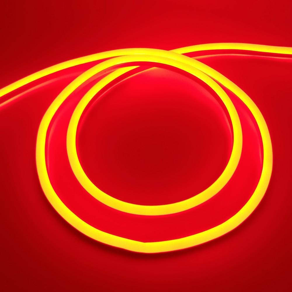 Світлодіодний Neon BIOM SMD2835-120 led 12V IP68 8x16 Стандарт Червоний
