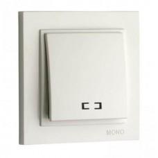 Вимикач одноклавішний з підсвічуванням Mono Electric серії Despina 10А Білий