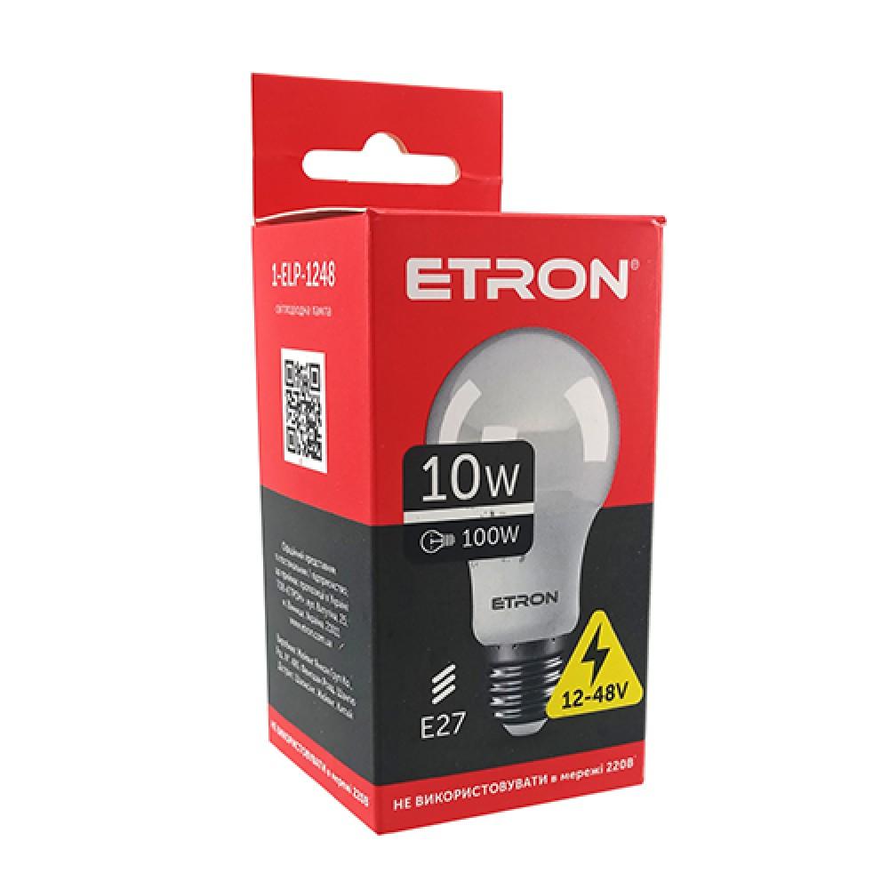LED лампа AC / DC 12-48V ETRON 1-ELP-тисяча двісті сорок вісім 10W 4200K E27 (не підключати У 220V)