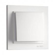 Вимикач одноклавішний Mono Electric серії Despina 10А Білий