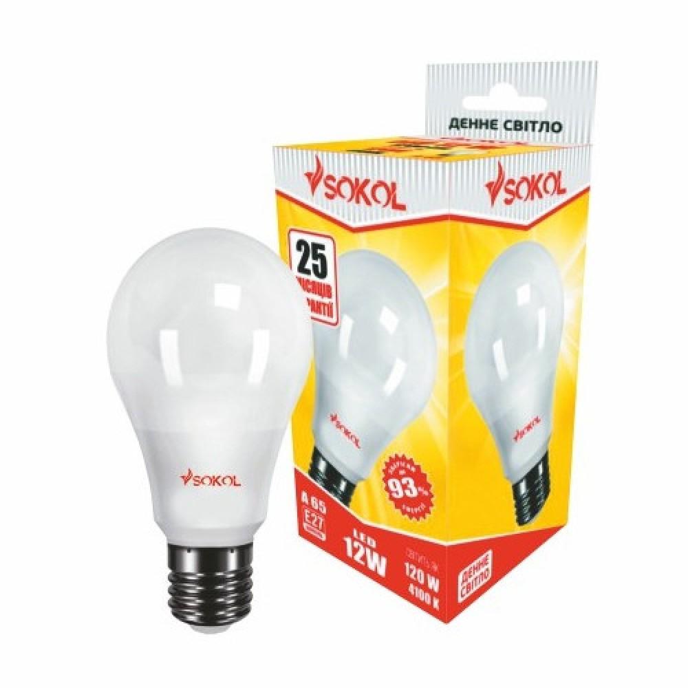 LED лампа SOKOL A65 12.0 W 220В E27 4100К