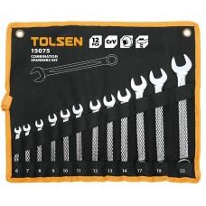 Набір ключів Tolsen комбінованих в чохлі 14 шт