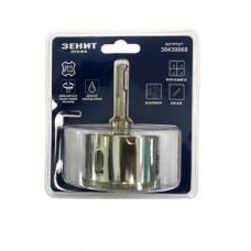 Коронка алмазна Зеніт Профі 68 мм + адаптер SDS-Plus (1/2) + центральне свердло (7х57мм)